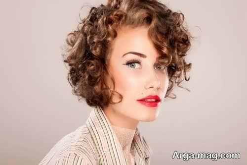 مدل آرایش صورت با موی کوتاه
