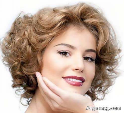 مدل آرایش ملایم با موی کوتاه