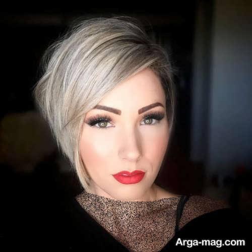 آرایش صورت زنانه با موی کوتاه