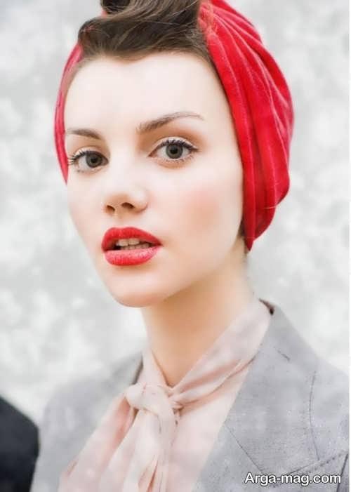 مدل آرایش صورت دخترانه با موی کوتاه