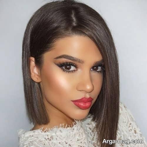 آرایش صورت برای موی کوتاه