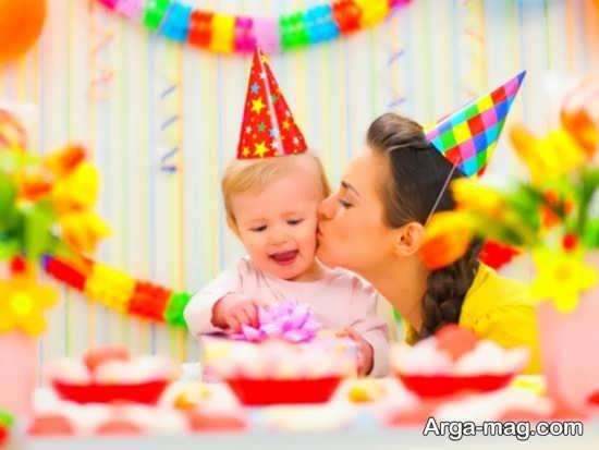 ژست عکس تولد قشنگ