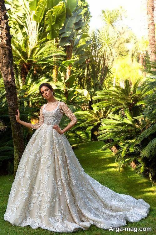 لباس عروس طرح دار و فانتزی