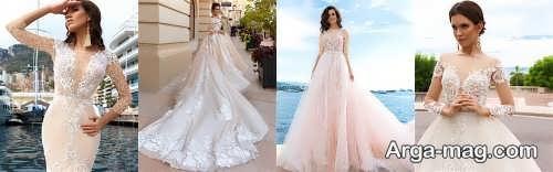 لباس عروس خاص و دنباله دار