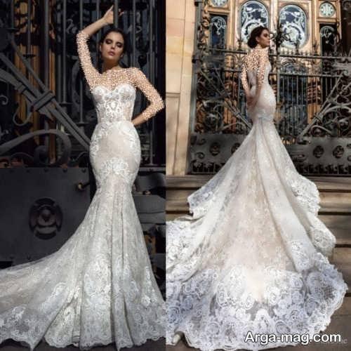 مدل لباس عروس کار شده و فانتزی