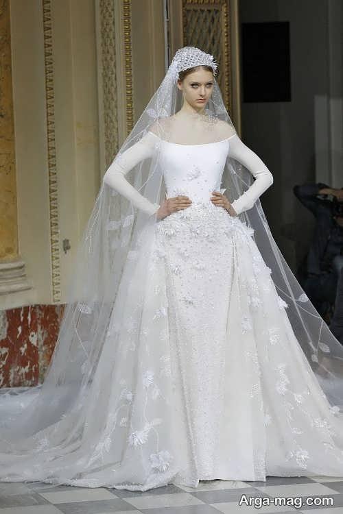 مدل لباس عروس پوشیده فانتزی