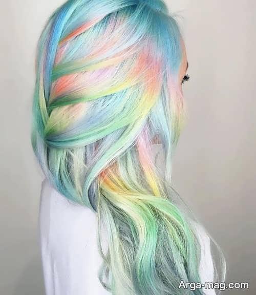 رنگ موی زیبا و فانتزی دخترانه