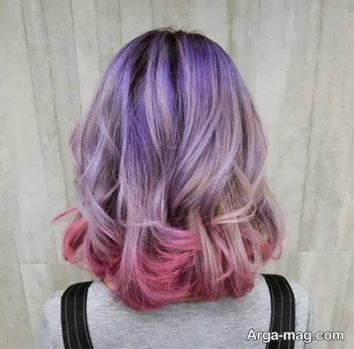 رنگ مو فانتزی و زیبا دخترانه