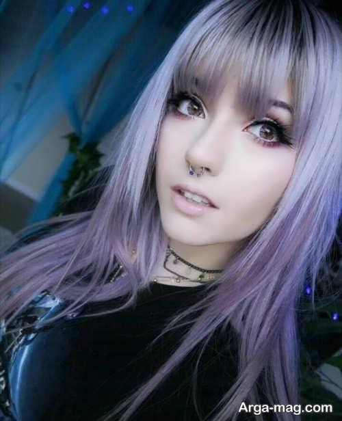 رنگ مو فانتزی و متفاوت دخترانه