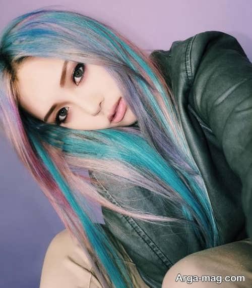 رنگ مو فانتزی و خاص دخترانه