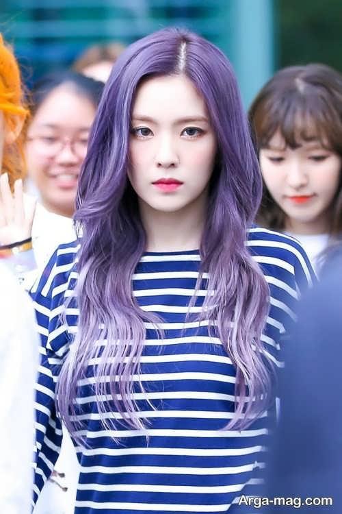 رنگ مو بنفش دخترانه