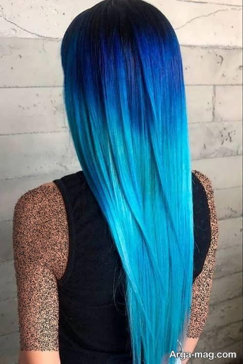 رنگ موی آبی فانتزی