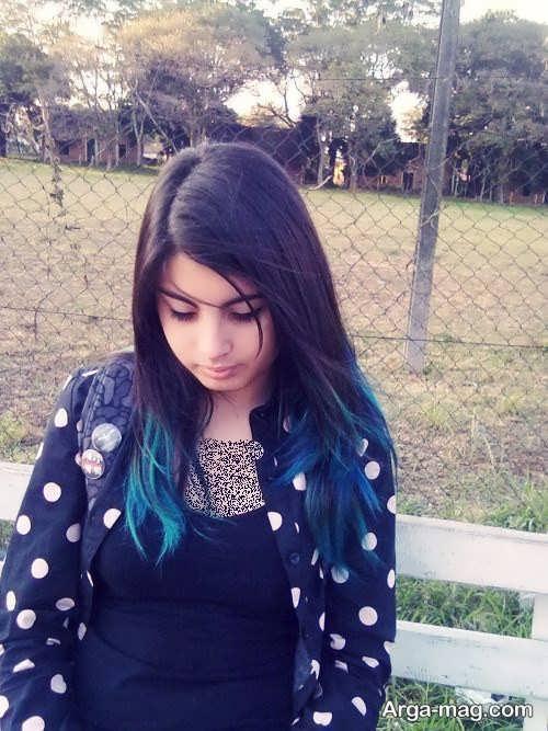 رنگ مو و هایلایت فانتزی دخترانه