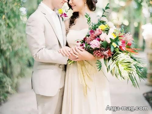 ژست زیبا برای گرفتن عکس عروسی