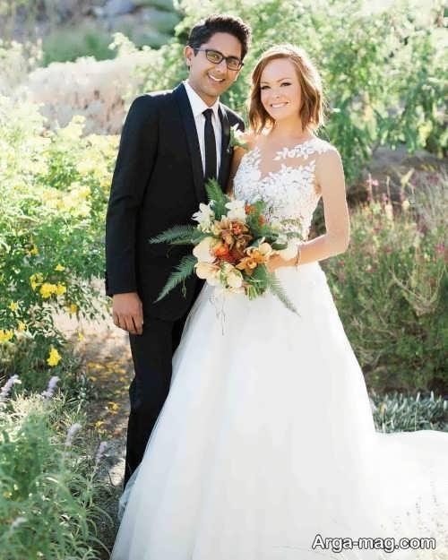 ژست زیبا و بی نظیر عروس و داماد