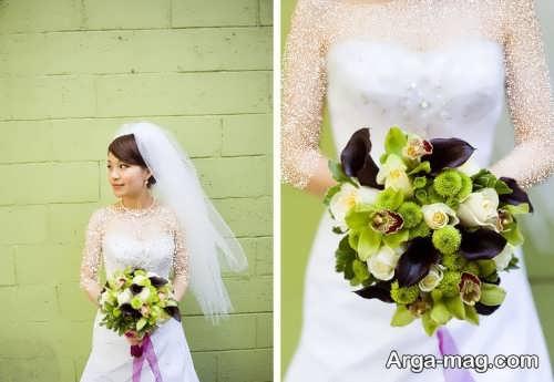 ژست زیبا و شیک عکس عروس