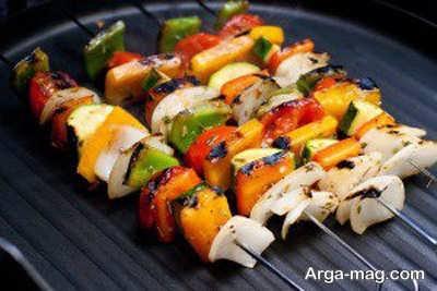 روش تهیه کباب سبزیجات