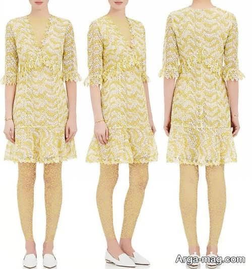 مدل لباس مجلسی کوتاه و زیبا گیپور