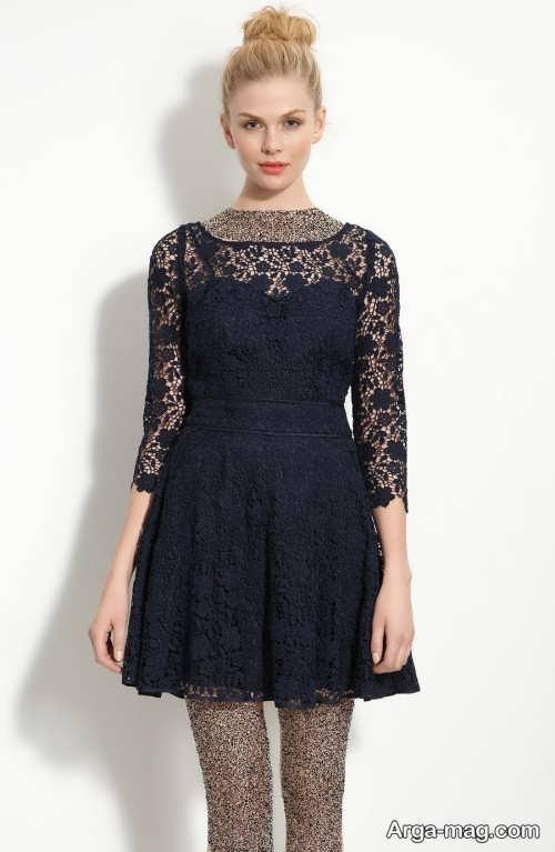 مدل لباس مجلسی مشکی و زیبا گیپور