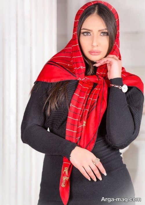 مدل موی صاف برای زیر روسری
