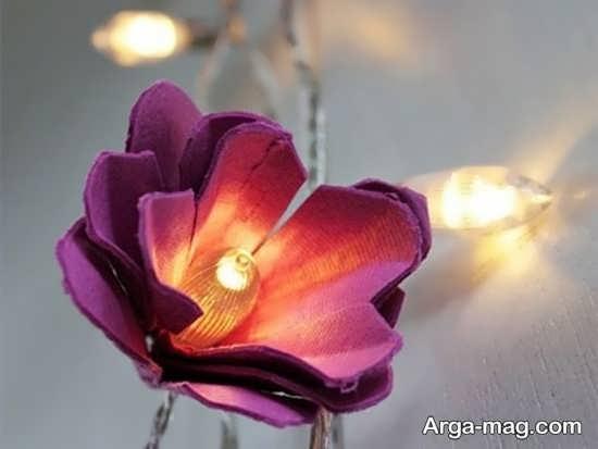 ساخت گل زیبا با کارتن