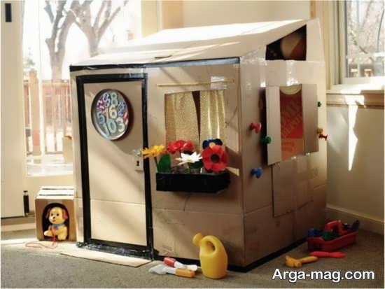ساخت خانه زیبا با کارتن