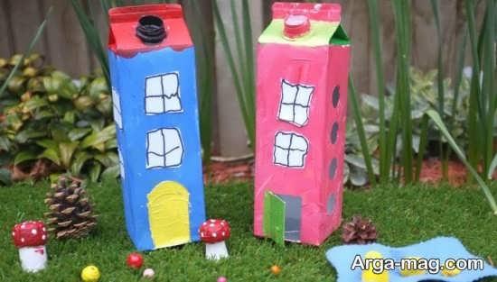 ساخت خانه با کارتن شیر