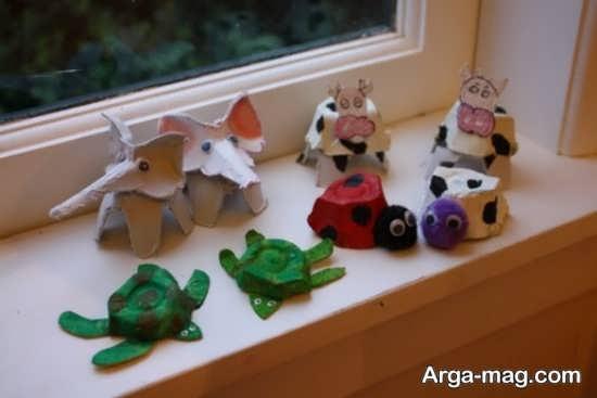 ساخت حیوانات کاغذی با کارتن