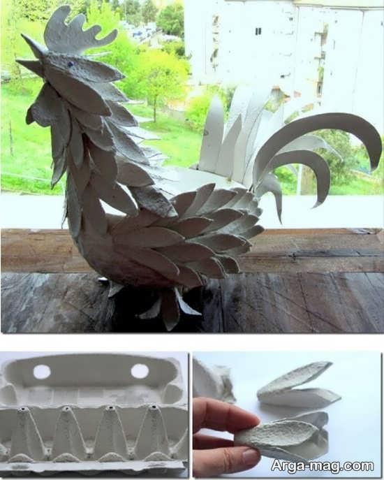 ساخت خروس با کارتن