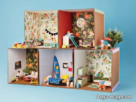 ساخت خانه عروسکی با کارتن