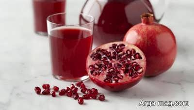 درمان غلظت خون با مصرف آب انار