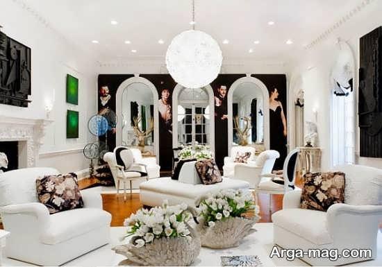 تزیین زیبای منزل با گل طبیعی