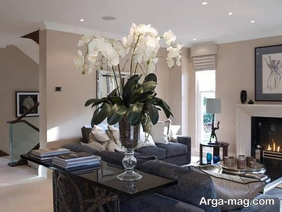 چیدمان شیک منزل با گل طبیعی