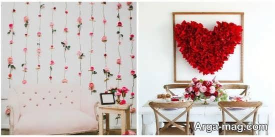 چیدمان رمانتیک منزل با گل طبیعی