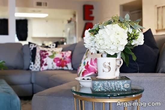 تزیین منزل با گل طبیعی