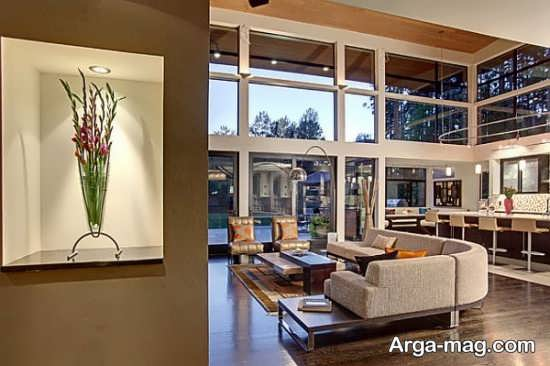 طراحی فوق العاده منزل با گل طبیعی