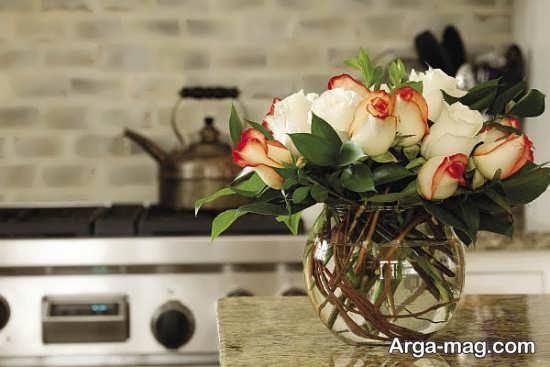 تزیین جذاب منزل با گل طبیعی