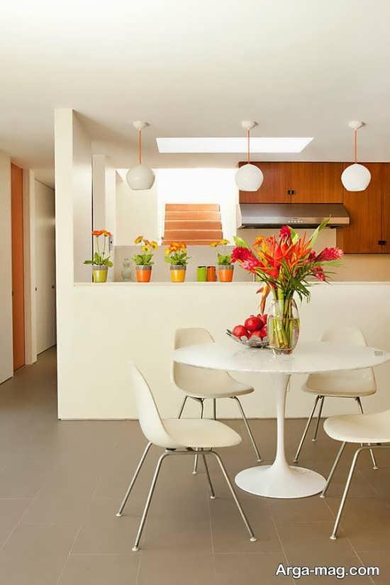 تزیین جالب منزل با گل طبیعی