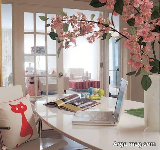 دکوراسیون رمانتیک منزل با گل طبیعی