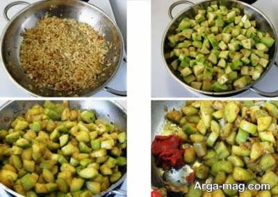 روش تهیه خوراک کدو سبز