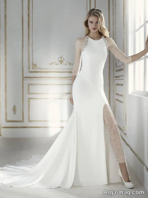 لباس عروس زیبا و ساده
