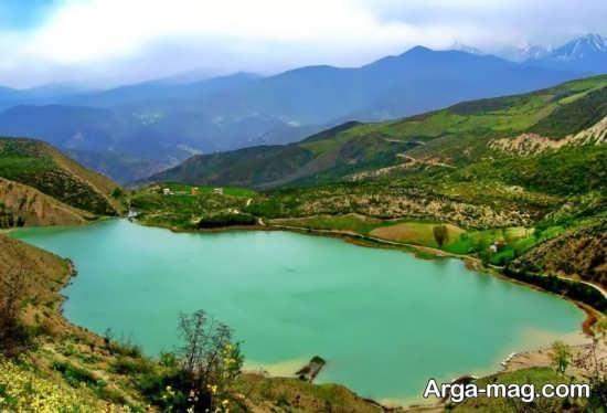 دریاچه ای آبی در کلاردشت