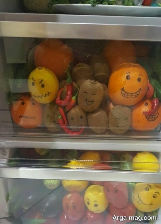 تزیین میوه یخچال