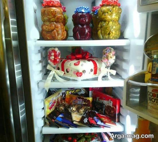 تزیین زیبا و خلاقانه یخچال نوعروس