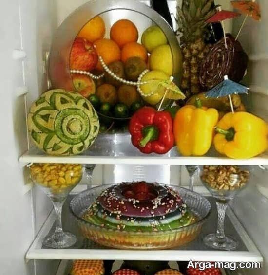 میوه آرایی برای یخچال عروس