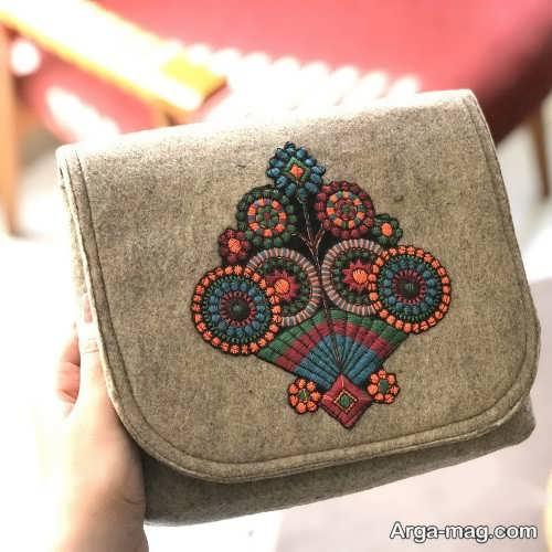 ساختن کیف نمدی زیبا