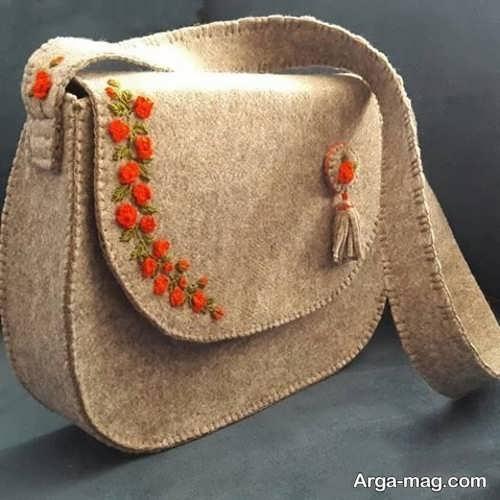 ساختن کیف نمدی زنانه