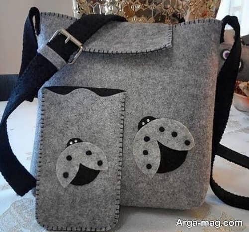 ساختن کیف نمدی خلاقانه