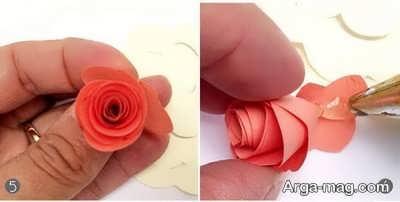 تهیه گل کاغذی