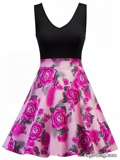 مدل لباس مجلسی شیک و گلدار